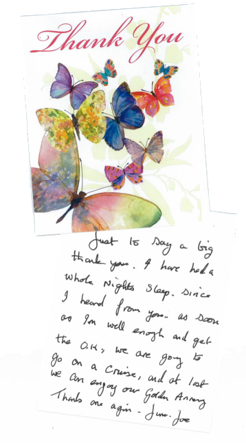 Reactive claims testimonials thank you letter spiritdancerdesigns Image collections